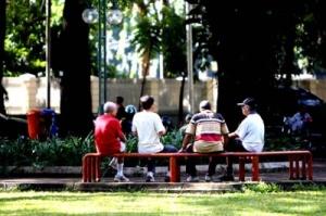 Retired Citizens in Park