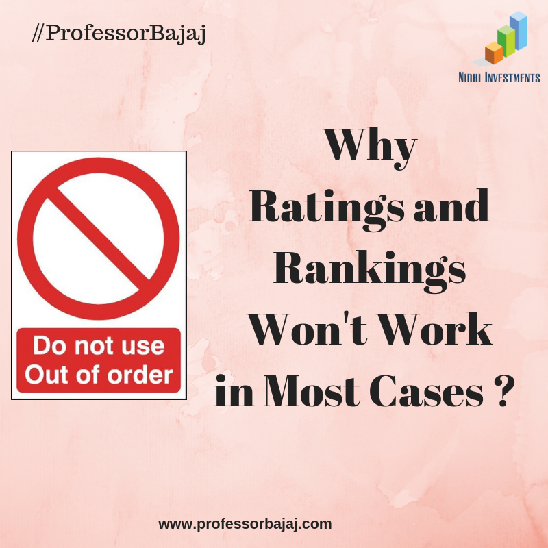 why ratings and rankings won't work in most cases _